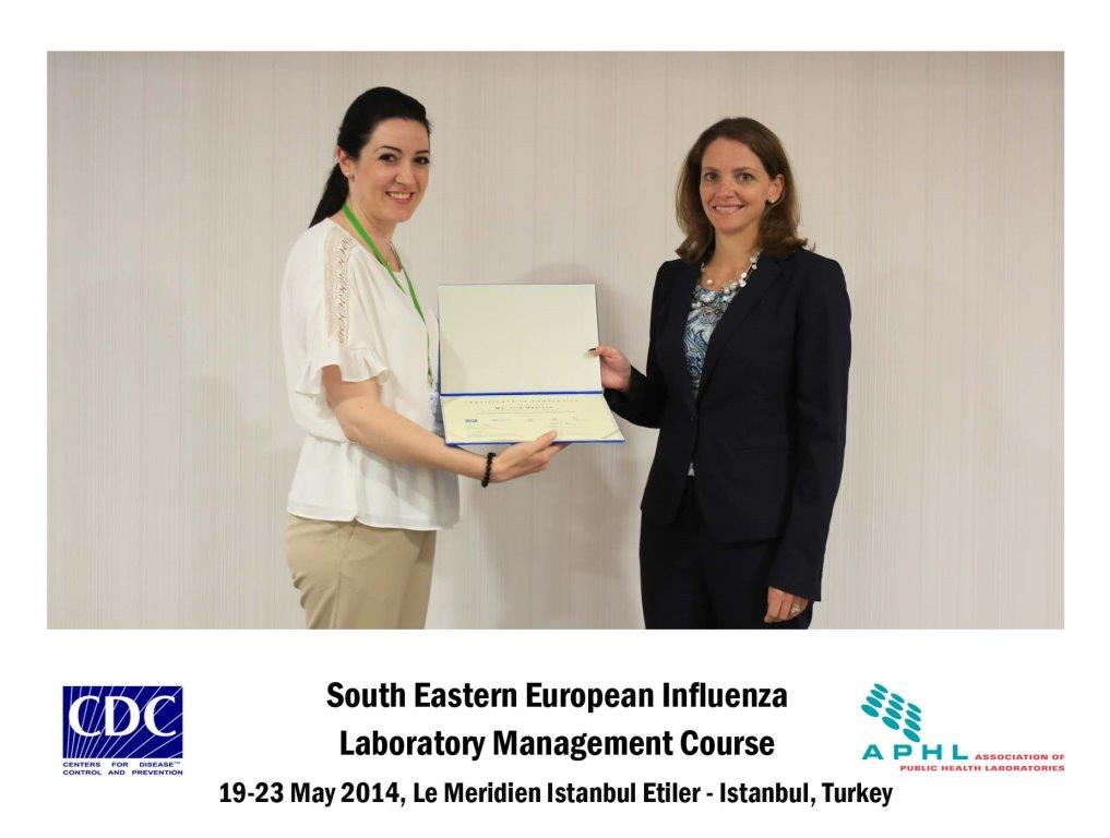 SEE Influenza Laboratory Management Course, Istanbul, Turkey, 19 to 23 May 2014