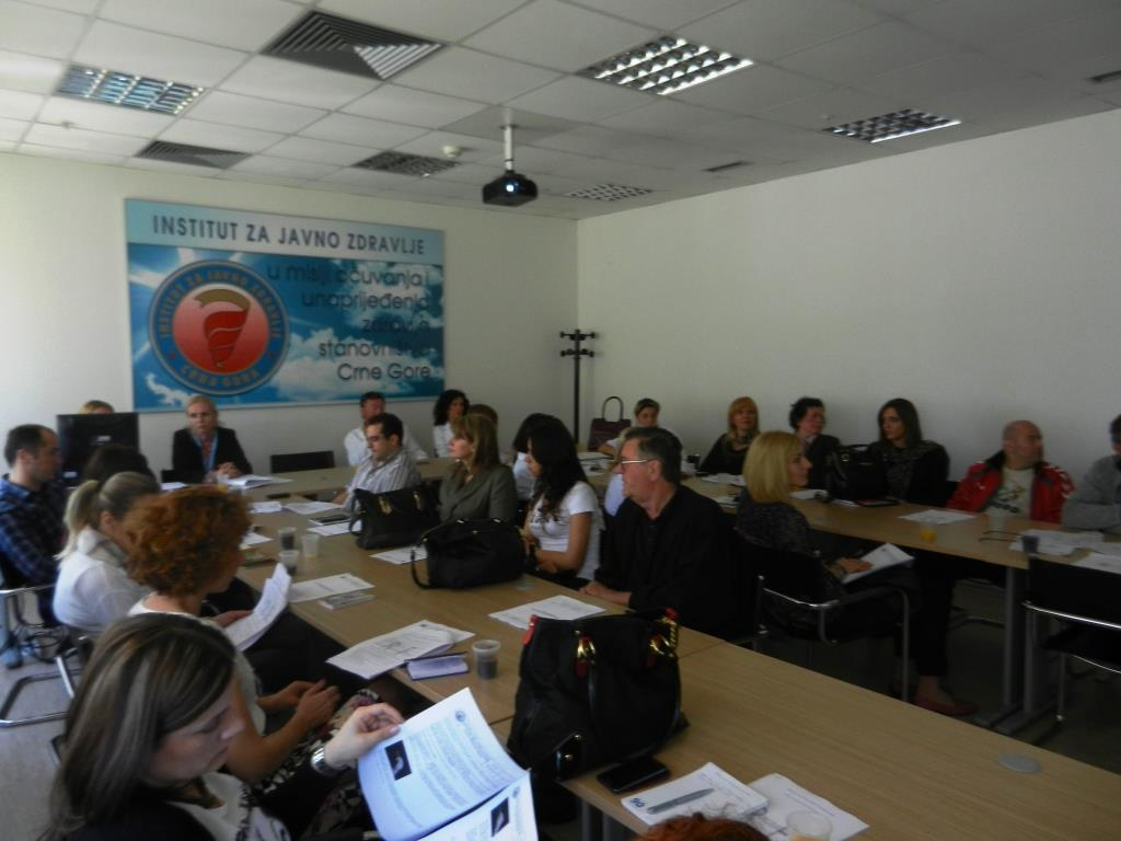 Meeting of Sentinel Doctors in Montenegro, May 7th 2014